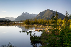 Early morning at Vermilion Lakes (Thankful!) Tags: banff banffnationalpark morning sunrise lake water reflection vermilionlakes calm still peaceful mountains distantmountains