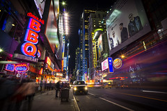 Theater District NYC (RigieNL) Tags: le longexposure sony sonya6000 nyc newyork manhattan america amerika night unitedstates shot color insta instagram lights
