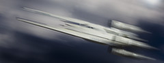 Punch it (tomtommilton) Tags: toy miniature model scalemodel macro motion blur speed movement spaceship flying clouds sky star wars rogueone uwing movie cinematic