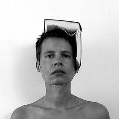 self with dictionary (Ines Seidel) Tags: self dictionary selbst selbstporträt wörterbuch buch bw blackandwhite schwarzweiss