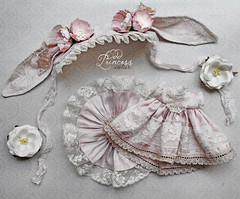 Luxury Pink Silk Bunny Set