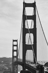 tWO tOWERS (wNG555) Tags: 2015 california sanfrancisco goldengatebridge bw marinheadlands nikon nikonseriese100mmf28 fav25 fav50