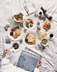 Sunday breakfast in bed, Marco Polo Hong Kong (ArDisBlossom) Tags: flatlay iphone7 iphoneography iphoneonly ardisblossom scmp newspaper foodie breakfastinbed morning sunday bed breakfast hongkong tsimshatsui marcopolo hotel
