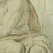RUBENS (d'Après BUONARROTI Michelangelo) - La Sibylle de Cumes, Chapelle Sixtine (drawing, dessin, disegno-Louvre INV20226) - Detail 40