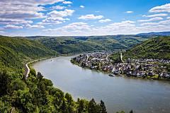 Rhine river seen from Marksburg Castle (mary_hulett) Tags: view vista rivercruise braubach river viking scenic germany tour rhineriver viewfromcastle europe marksburgcastle travel
