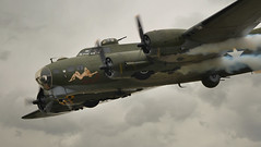 Going down (PentlandPirate of the North) Tags: b17 flyingfortress bomber ww2 riat airshow tattoo fairford sallyb