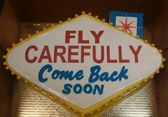 Farewell Vegas Sign (dragosisters) Tags: lasvegas blue red gold vegassign cake farewell