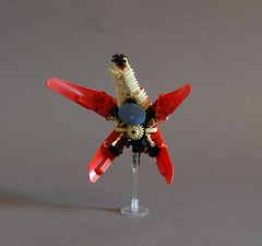 The Drone - Rear Detail (Sydag) Tags: lego moc scifi machine space starfighter ship