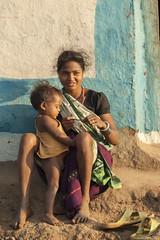 Village life (wietsej) Tags: village life rural tribal kawardha chhattisgarh india sony a100 zeiss sal135f18z 135 18 mother child