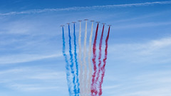 july 14th 2017 - French National Day (01) - part 1 (Franck Zumella) Tags: july juillet 14 france défilé defile aérien aerien fete fête avion hélicoptère helicoptere helicopter aircraft plane fighter jet patrouille bleu ciel sky blue paris nationale champ élysée