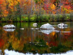 Rocky Reflection (Stanley Zimny (Thank You for 24 Million views)) Tags: reflection fall autumn rocks water lake colors