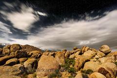 cw1 Alabama Hills night time no1 sky  B@W (Paul2660-1) Tags: californiaphotography nikond810 nikonphotography astrophotography alabamahills nightscapes timelaspe