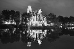 The church by the lake (frank.gronau) Tags: frank gronau stuttgart deutschland germany sony alpha 7 feuersee kirche church see lake spiegelung schwarz weis black white bw