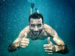 Summertime (Japo García) Tags: agua mar bajoagua retrato japogarcía calabria disfrutar verano baño bucear submarino