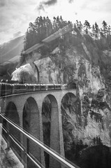 Landwasser Viaduct (miguel_sanada) Tags: canon5d 1635mmf4 switzerland berninaexpress train landwasserviaduct bridge filisur