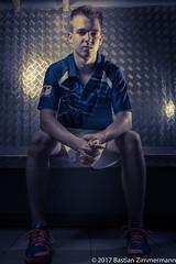 Badminton player (drnoaustralia) Tags: canon70d canon 2470 sports badminton player germany sgebtberlin berlin portrait porträt flash teiltonung colours
