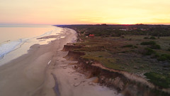 Swiss town beach (Marcelo Campi Amateur photographer) Tags: beach mavicpro sand winter sunset explore water ocean hills yellow green red people tiltshift aerial dji nature beautifull beauty