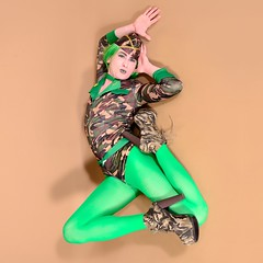 126Q2L (klarissakrass) Tags: heels tights flexy flexypose camuflage campbell boots booties costume crossdress crossdressing travestite cd uniform