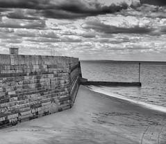The Sea Wall. Cloudy day. (Tim Ravenscroft) Tags: margate sea seascape wall beach beachseascape monochrome blackandwhite blackwhite hasselblad hasselbladx1d x1d