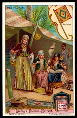 Liebig Tradecard S1081 - Fans - Arabian (cigcardpix) Tags: tradecards advertising ephemera vintage chromo liebig