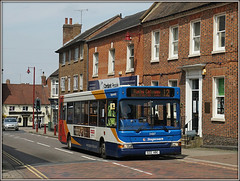 Not as easy as S22 ABC............ (Jason 87030) Tags: dart museum s22abc 34817 stagecoach midlands 12 rugby daventry monksmoor town dennis pointer slf route service street newst northants sony alpha a6000 ilce nex lens tag flickr shops building scene shot shoot wheels
