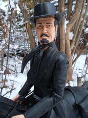 """Best of the West """"Sam Cobra"""" (atjoe1972) Tags: johnnywest samcobra bestofthewest botw horse cowboy outlaw oldwest hat boots sixshooter western wildwest snow saddle bags frontier toys marx sixties seventies 1970s 1960s retro vintage memories actionfigure atjoe1972 colorado territory winter"""