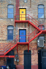 Color Block (Toria.Rivera) Tags: doors color fireescape bold bright contrast digital