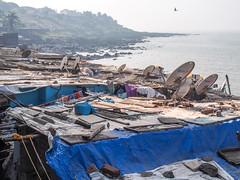 Mumbai 2015 (hunbille) Tags: birgittemumbai1lr india mumbai ghat steps walkeshwar temple complex walkeshwartemple malabarhill malabar hill bangangatank banganga tank lake satellite sea bombay