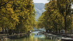 Small boat moorings (BAN - photography) Tags: boats canal lake annecy trees bouys reflection d810 mountainbridge