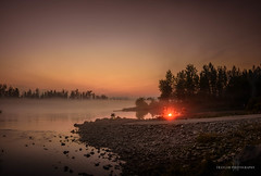 Sunrise fishing on Knik river (Traylor Photography) Tags: alaska sunrise sunset nature reflection panorama oldglennhighway wasilla knikriver butte palmer people fishing landscape fire salmon campfire