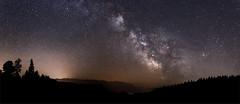 Milky Way rising over Schrattenfluh (eichlera) Tags: night milky way sky stars galaxy star emmental switzerland swiss entlebuch schrattenfluh alps forest trees darkness light outdoors