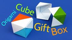 Origami Cube Gift Box aka Flag Box (origami.plus) Tags: origami box cube flag cubebox flagbox origamibox