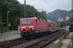 Br 143 821 in Rathen (michaelketzenberg) Tags: br143 rathen train elbsandsteingebrge züge trains