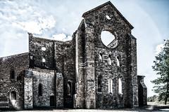 San Galgano (Russosalv) Tags: tuscanycountryside building blackwhite black bricks gothic abbey church old tuscany architecture