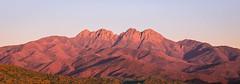 The Four Peaks. (PebblePicJay) Tags: arizona phoenix fourpeaks red mountains canon6d sunset park america clear sky
