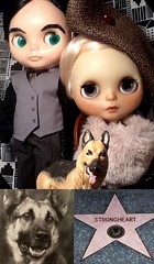 Blythe-a-Day#20: King/Knight/ Night: Mary, Jimmy & Strongheart, the King of Movie Dogs