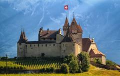 Aigle Castle (Geolilli) Tags: aigle switzerland castle vineyards wine burg knights swiss montreux