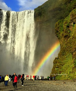 La cascada Skógafoss Islandia