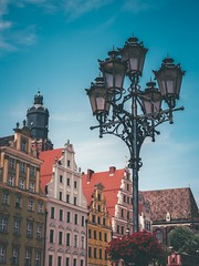 Street Lamp (karolklaczynski) Tags: fuji fujifilm xt1 wroclaw polska poland street streetphotography streetshooter lamp architecture old oldtown buildings roof roofs tower 35mm