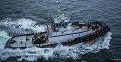2017 - Alaska - Kodiak - Brian T (Ted's photos - For Me & You) Tags: 2017 alaska alaskacruise cropped nikon nikond750 nikonfx tedmcgrath tedsphotos vignetting tug tugboat briant 9125762 briant9125762 ship boat wake spray imo9125762