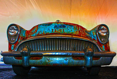 Rust Never Sleeps (oybay©) Tags: buick buickspecial generalmotors sideview color colors rusty crusty unusual barrettjackson barrett jackson auction scottsdale arizona convertible blue kindofblue milesdavis car vehicle race sport auto racing