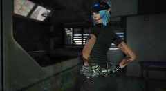 Galley Tease (Zoe Willows) Tags: zoewillows secondlife sl space planets newworld metaverse vr 3d slart slmesh cyberpunk scifi sciencefiction fantasy sensuality robot gynois cyborg toughgirl belleza isis alien slalien slelf elf secondlifecyberscifi