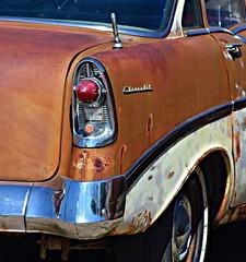 56 (David Sebben) Tags: 1956 chevrolet sedan car automobile rust chrome tailfin iowa