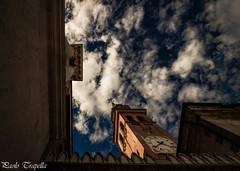 Cittadella (paolotrapella) Tags: cittadella prospettiva cielo nuvole chiesa campanile mura perspective sky clouds church bell tower walls italia paolotrapella canon eos 1018