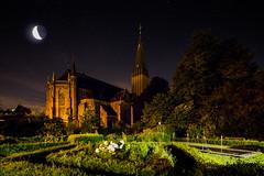 St Maria Magdalena (Sucherauge) Tags: kirche church moon mond lunar stars sterne himmel heaven nacht night catholic katholisch