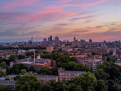 City In Pink (JH Images.co.uk) Tags: london skyline city cityscape cityoflondon clouds sunset shard gherkin skyscrapers hdr dri drone mavic