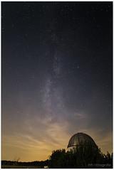 Milkyway above observatory (lichtspuren) Tags: milkyway milchstrase sternwarte melle observatory germany summer sommer lightpollution lichtverschmutzung sky himmel