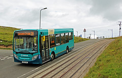 LLANDUDNO AND GREAT ORME_Arriva 2156 descending The Great Orme (Barrytaxi) Tags: arriva 2156 bus single decker tram tracks wales