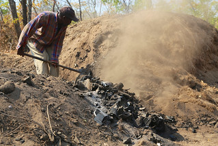 Charcoal production in Nyimba, Zambia