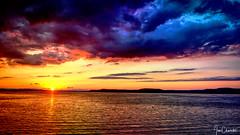 Sunset on the Mississippi (iecharleton) Tags: sunset mississippiriver river water sky clouds landscape tourism travelphotography amtrak empirebuilder